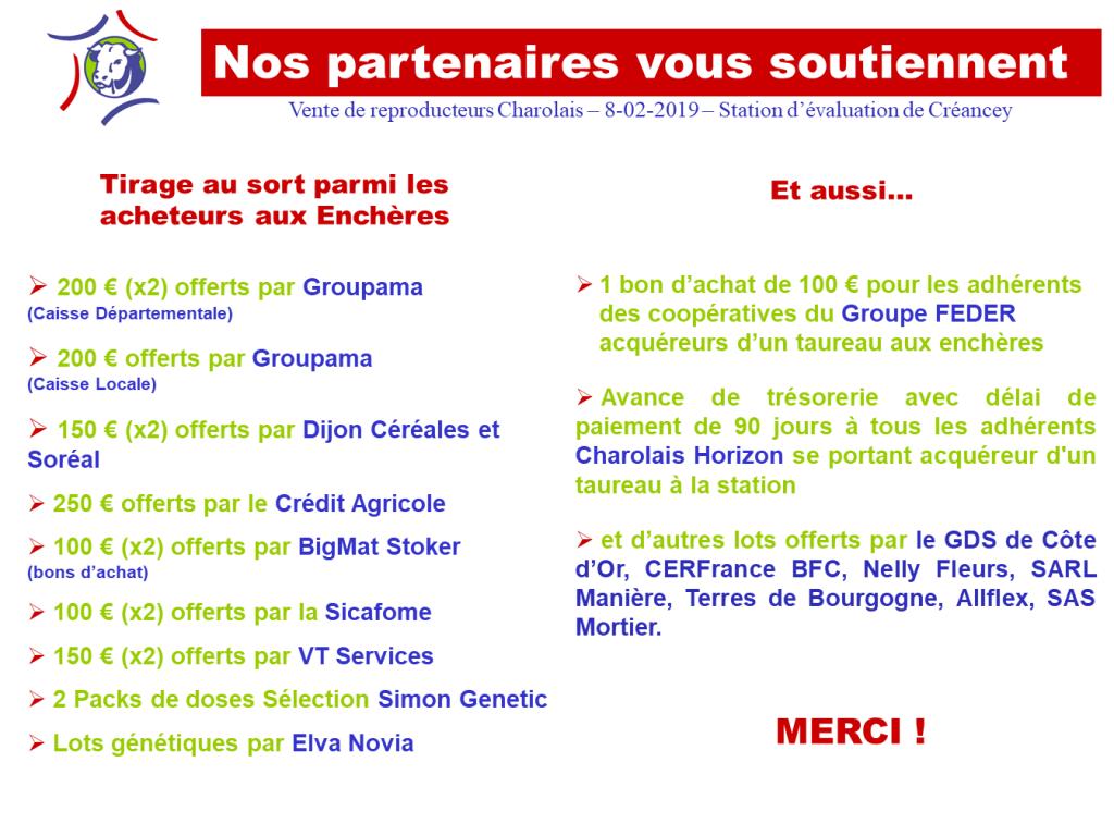Liste Dons Partenaires