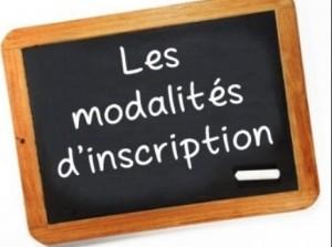 MODALITE INSCRIPTION