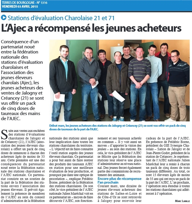 Article Terres de Bourogne - 03-04-15